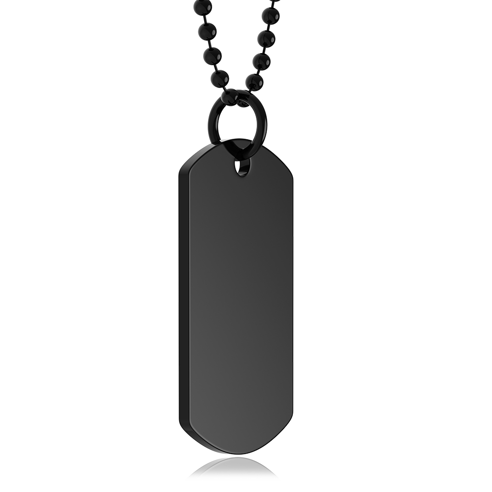 Black Dog Tag, Personalised