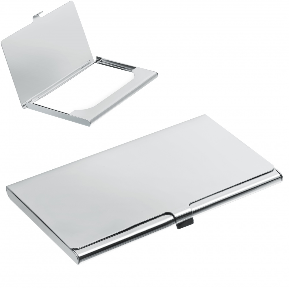 business card holder sterling silver plated can be personalised - Silver Business Card Holder