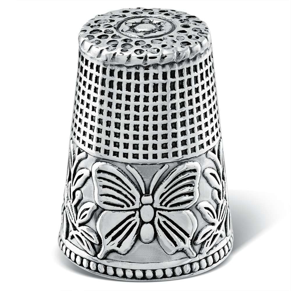 Butterfly Sewing Thimble, Sterling Silver