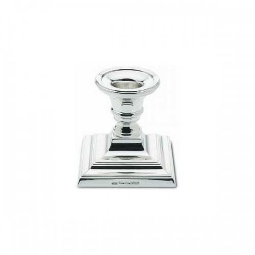 Square Based Candlestick 72mm Hallmarked Sterling Silver