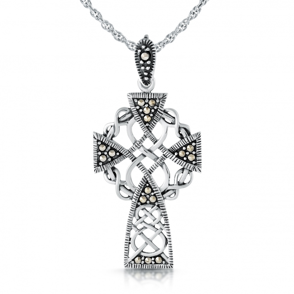 cross jewelry on trends leather cgc celtic pendant necklace with products bail steel stainless internal