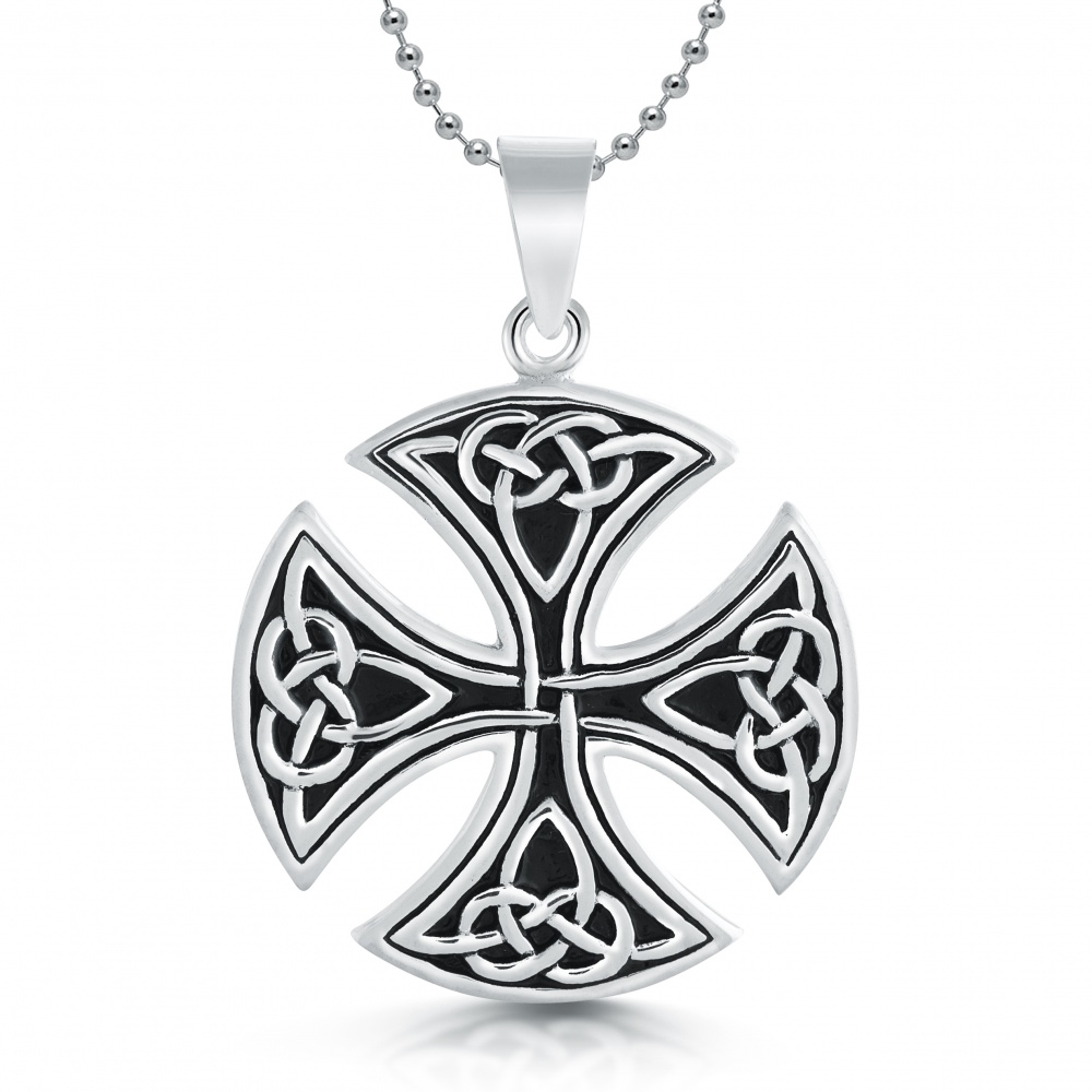 locket lockets oval matt design product silver chain celtic pgd on sterling with cw knot