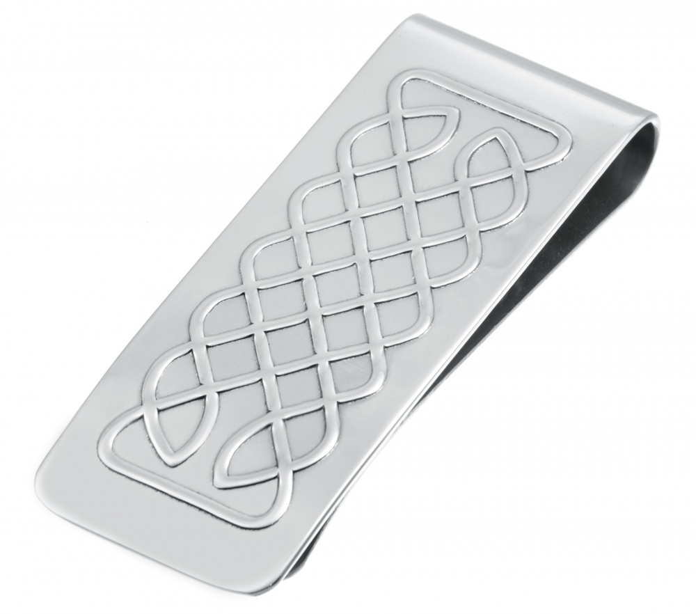 Celtic Knot Money Clip, 925 Sterling Silver, Hallmarked (can be personalised)
