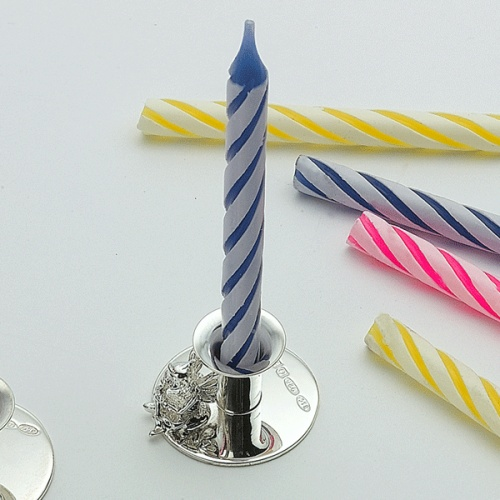 Fairy Birthday Candle Holder Personalised Sterling Silver Hallmarked