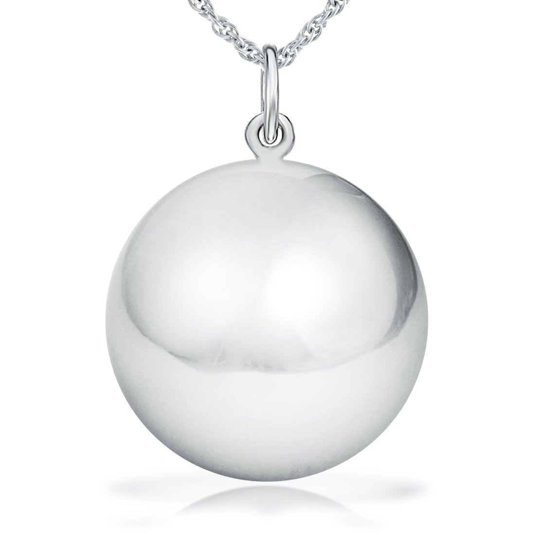 18mm Sterling Silver Harmony Ball  925 Sterling Silver Chain   Gift Box