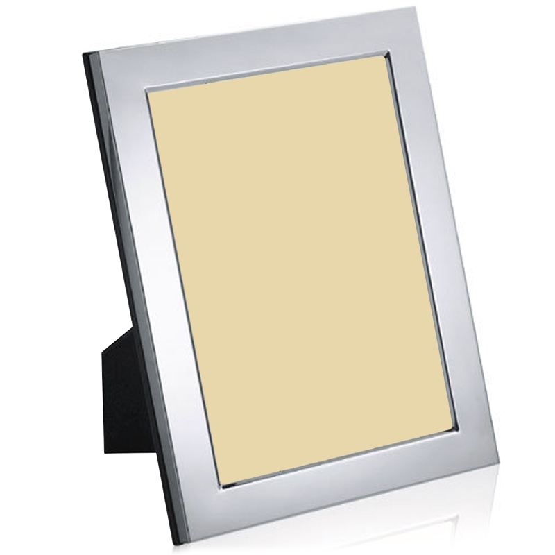 Sterling Silver Plain Photo Frame, Personalised / Engraved