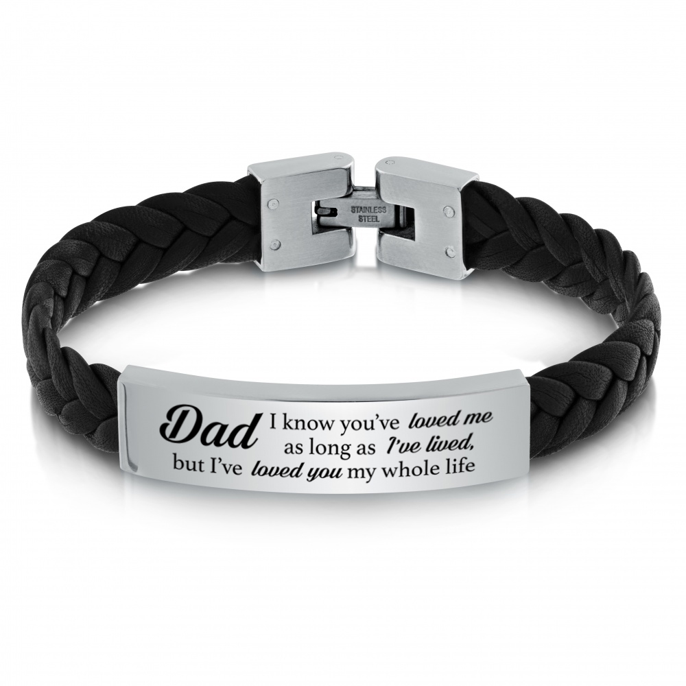 Dad, I've Loved You My Whole Life Bracelet, Personalised