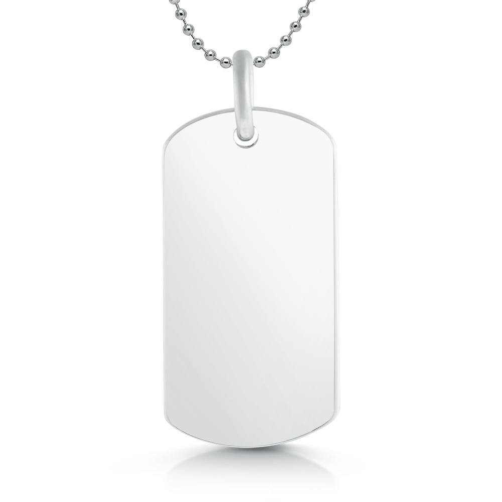 Dog Tag Sterling Silver Hallmarked, Personalised