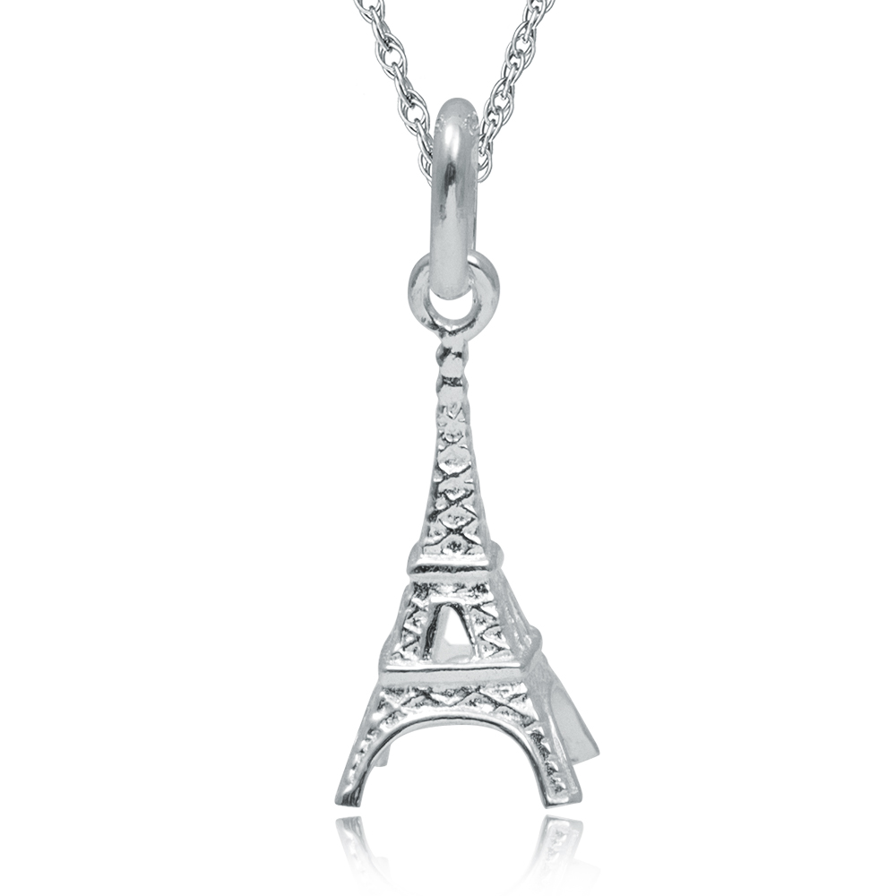Eiffel Tower, Paris Necklace, 925 Sterling Silver