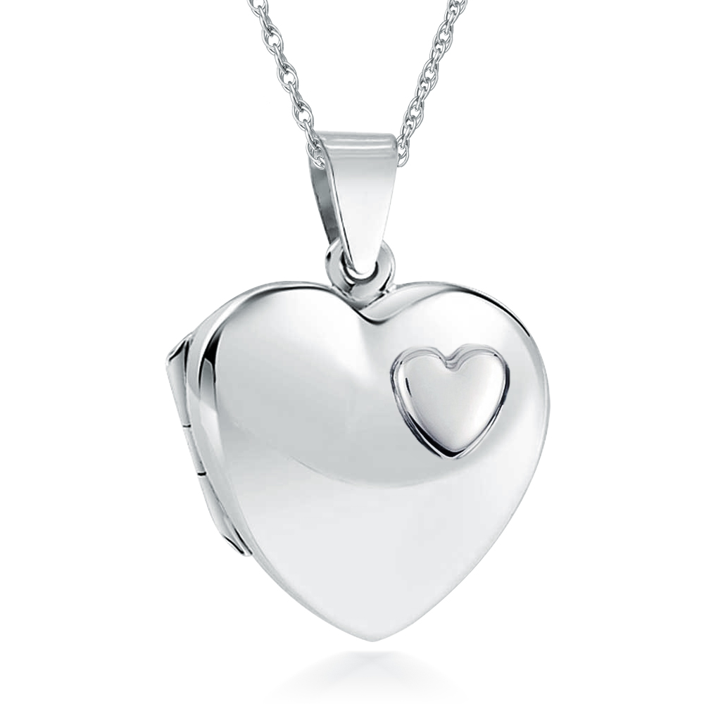 set polished amazon silver necklace com dp jewelry pendant sterling locket lockets heart