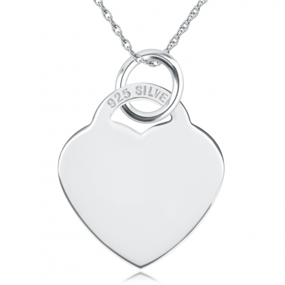 Personalised heart necklace sterling silver aloadofball