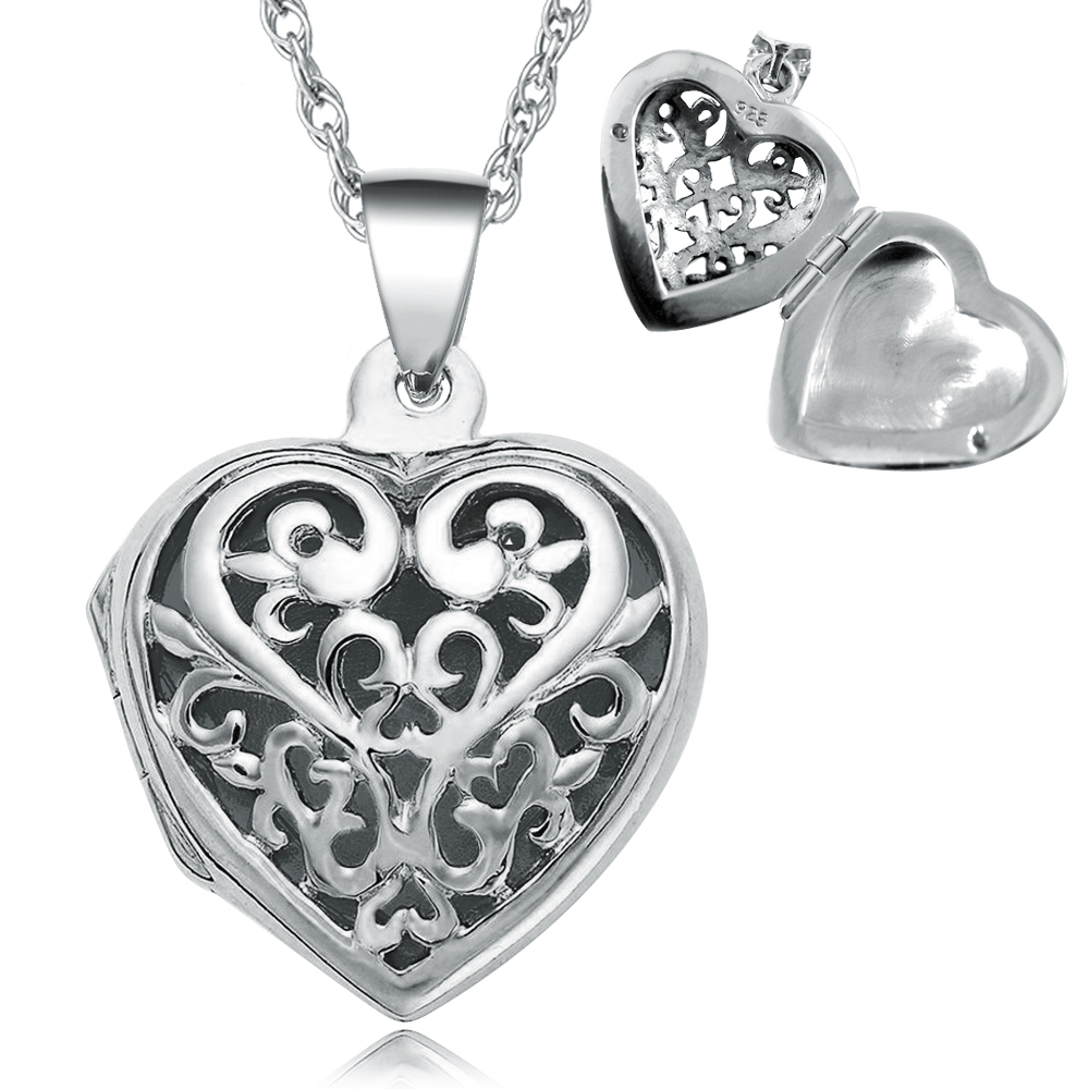 Heart Shaped Pomander Locket, Personalised, 925 Sterling Silver