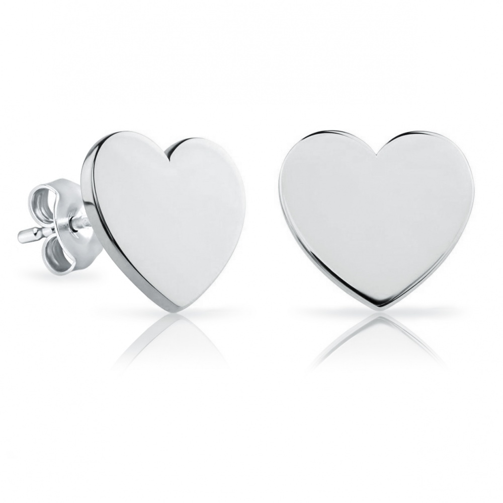 silver jewellery earrings products heart ishka stud