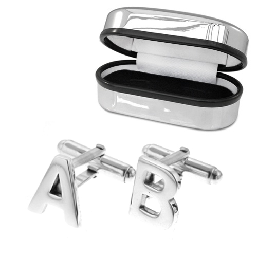 Initial/Letter Sterling Silver Cufflinks (can be personalised)