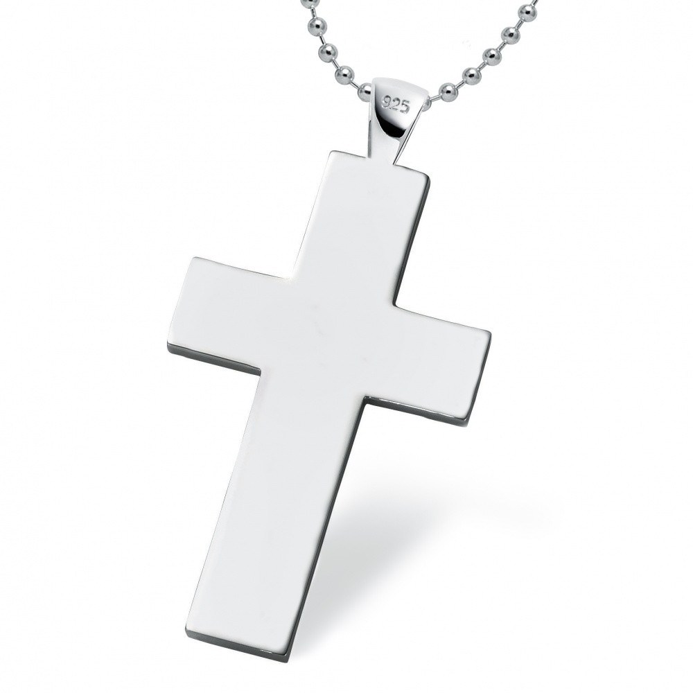 Mens Cross - 925 Sterling Silver (can be personalised)