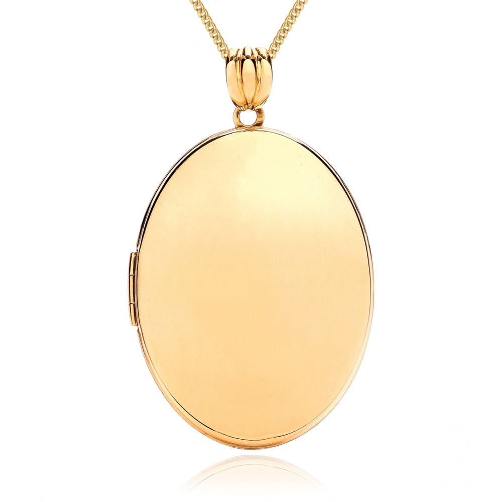 Large Oval 9ct Yellow Gold Locket Personalised/Engraved