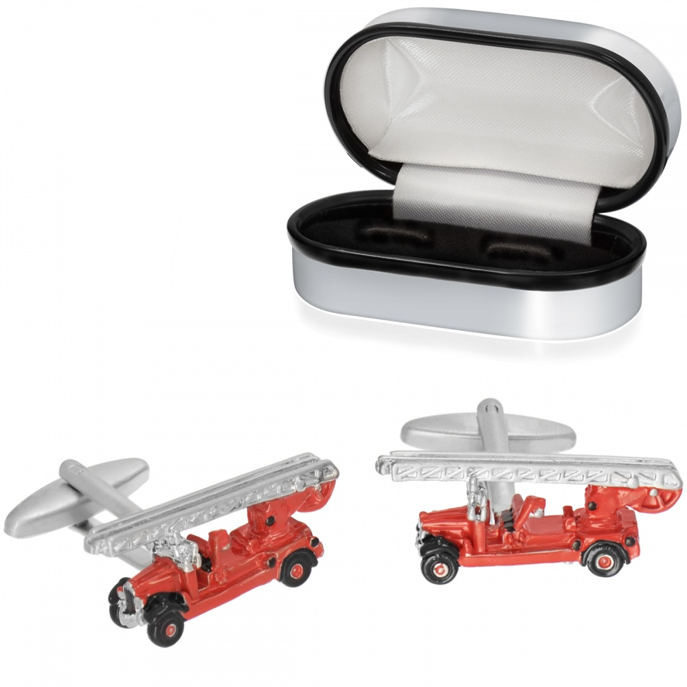 Fire Engine Cufflinks, Antique Leyland 1936 (can be personalised)