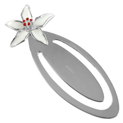 Lily Hallmarked Sterling Silver Bookmark (can be personalised)