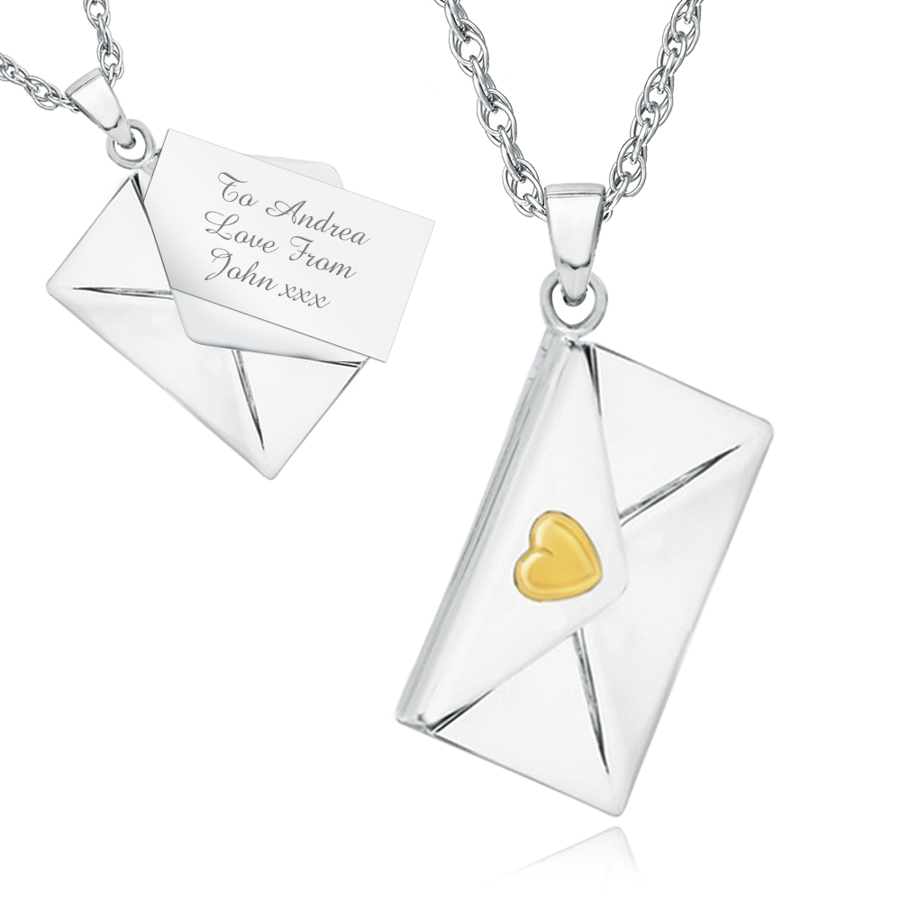 envelope by silver lime locket with limetreedesign letter personalised necklace lockets original product tree