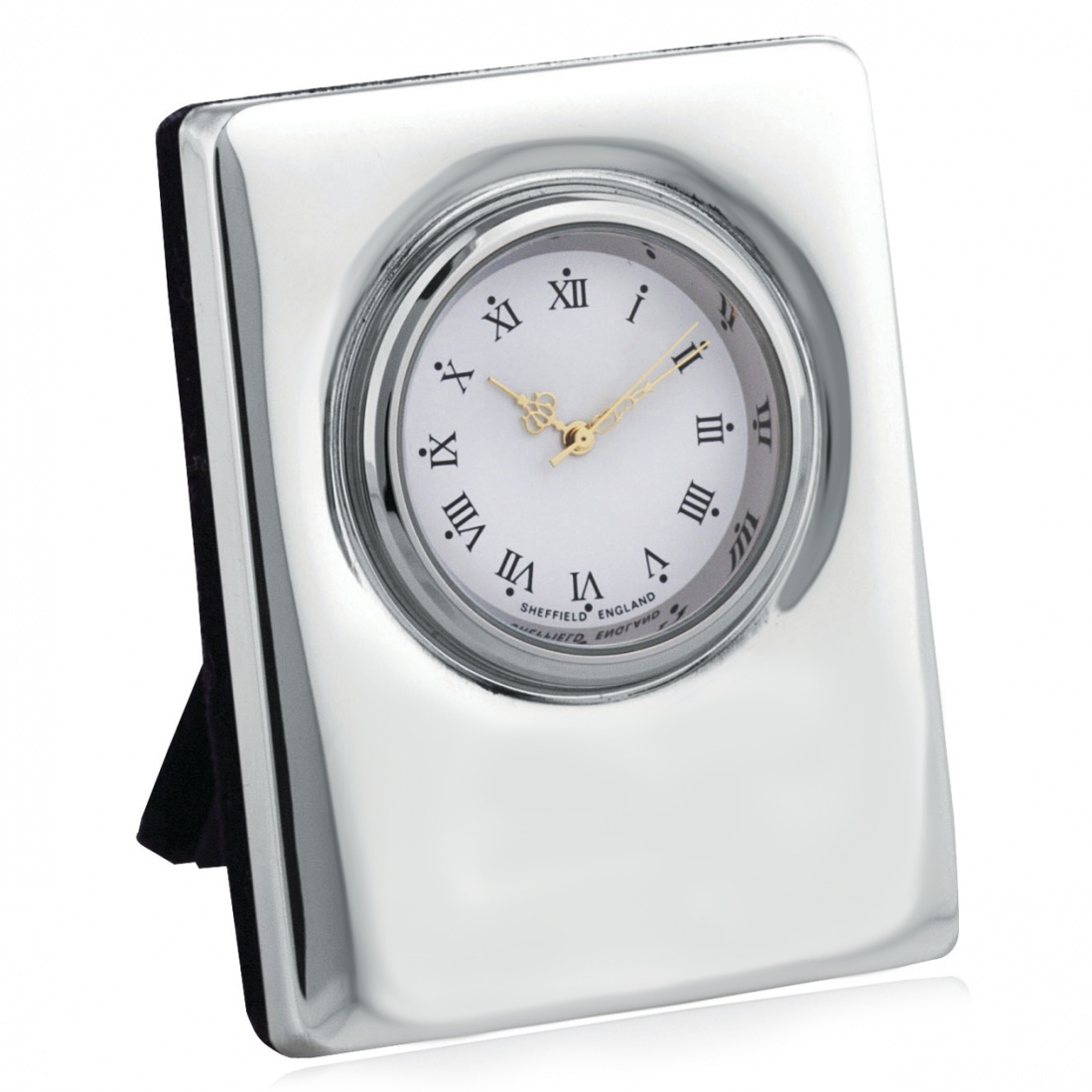 Carrs Mini Clock, Hallmarked Sterling Silver (can be personalised)