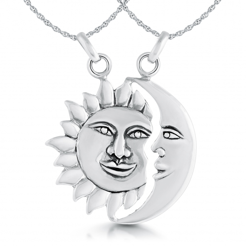 Sun & Moon Necklace, Personalised, Split Sharing
