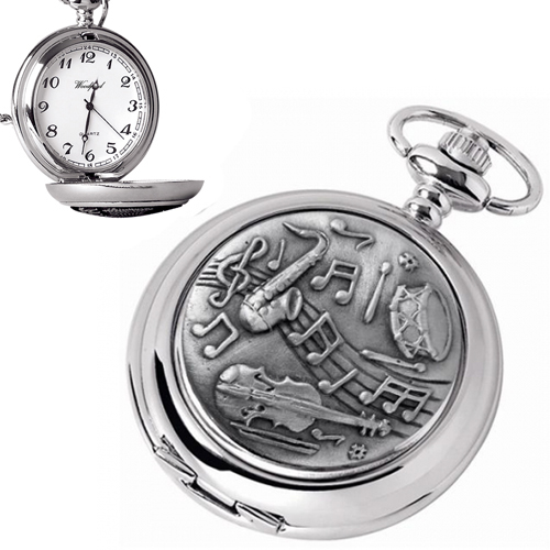 Musical Instruments Pocket Watch, Quartz (can be personalised)