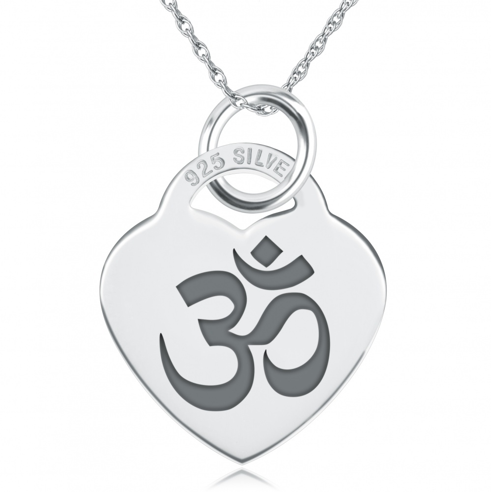 Om/Aum Necklace, Personalised, Sterling Silver