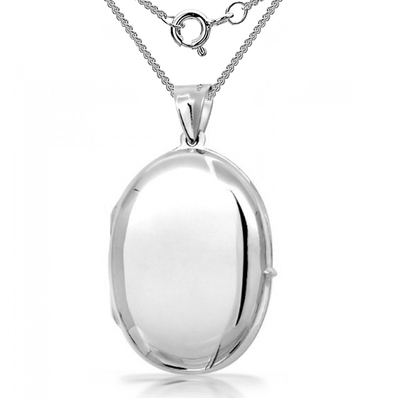 Oval Locket, 925 Sterling Silver (can be personalised)