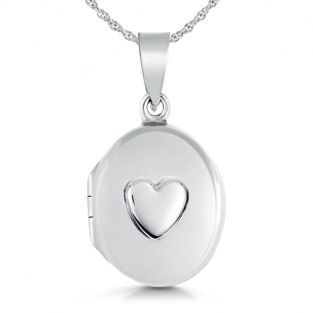 77db451587783 Ladies Childs Small Oval Raised Heart Locket