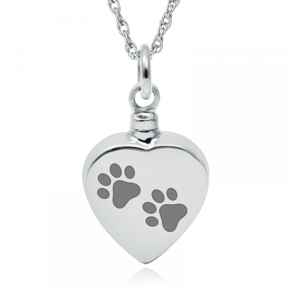 ashes be can silver locket personalised necklace lockets prints paw print memorial sterling