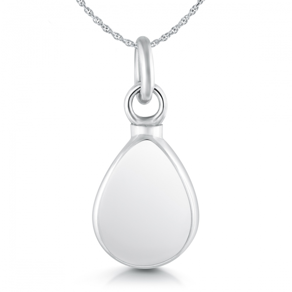 ashes memorial cremation for pendants teardrop pendant service clear pet a