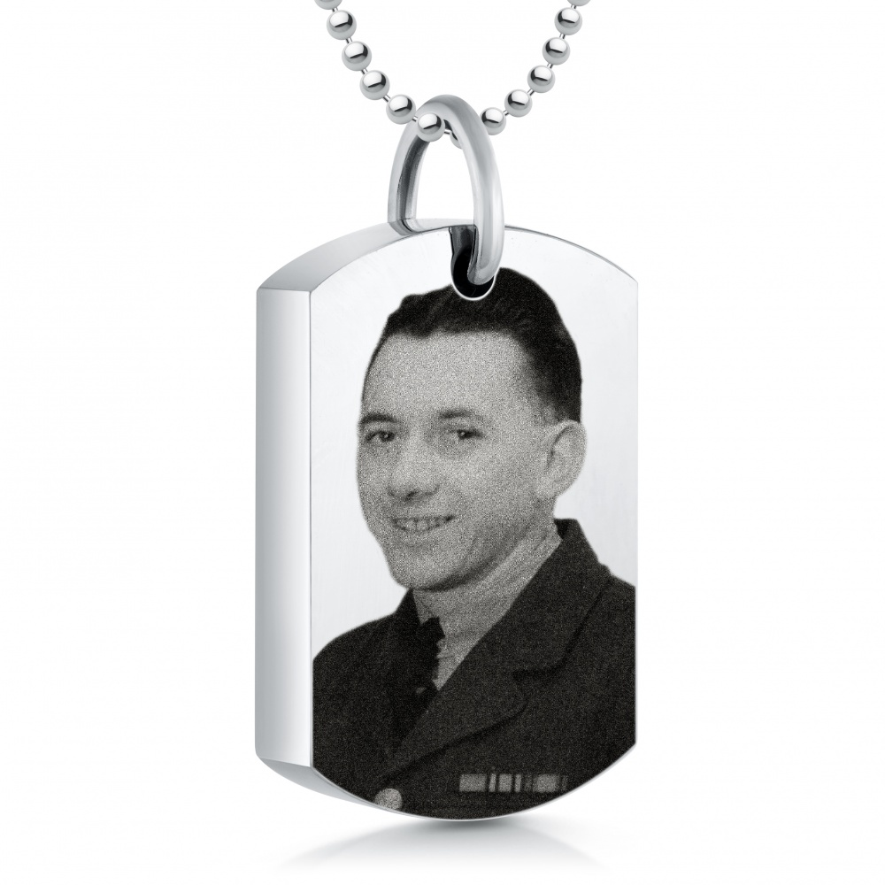 Your Photo Ashes Dog Tag, Personalised, Necklace, Picture