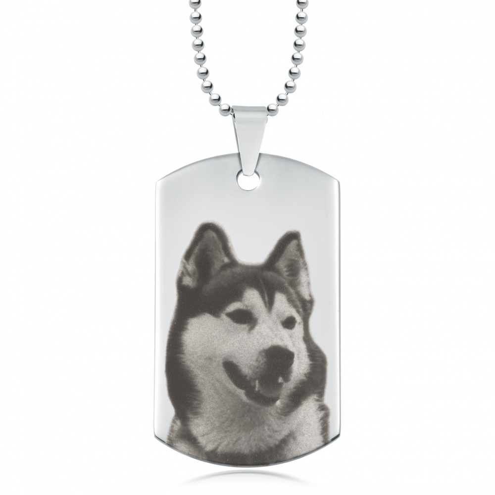 Photo Dog Tag, Personalised, Stainless Steel, Your Photo