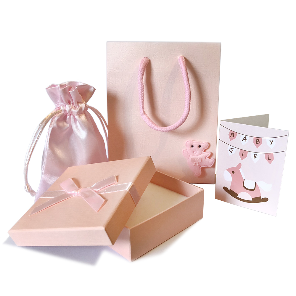 Pink Girls Gift Packaging with Gift Message
