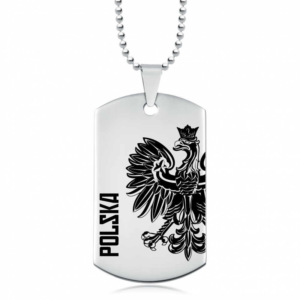 Polish Eagle Polska Designer Dog Tag, Personalised / Engraved, Stainless Steel