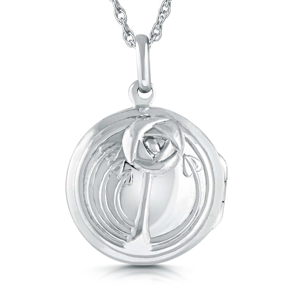 Mackintosh Style Locket, Sterling Silver, 2 Photo