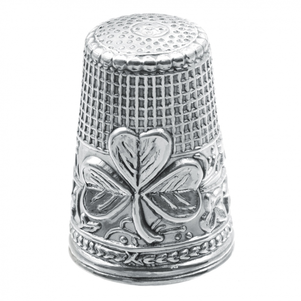 Shamrock Thimble, 925 Sterling Silver, Hallmarked