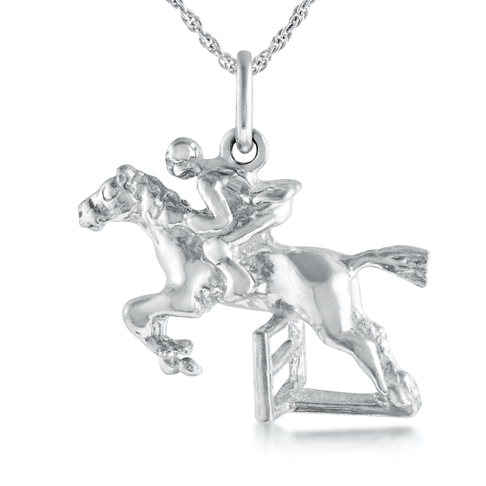 Show Jumping Necklace, Sterling Silver