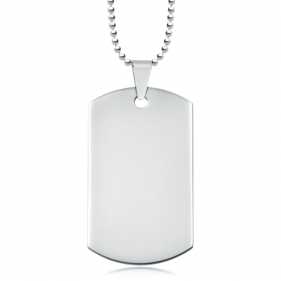 Single Stainless Steel Dog Tag with Ball Chain (can be personalised)