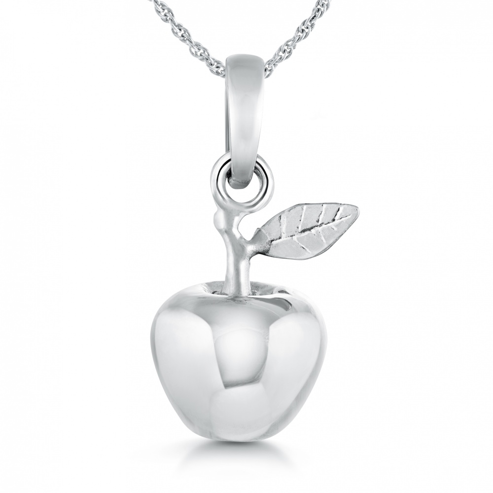 Apple Necklace, Sterling Silver