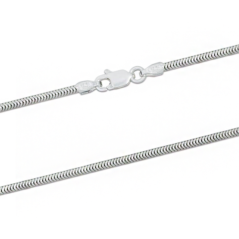 1.6mm Snake Chain, Sterling Silver, 16, 18, 20, 22, 24, 26, 28 & 30 Inches