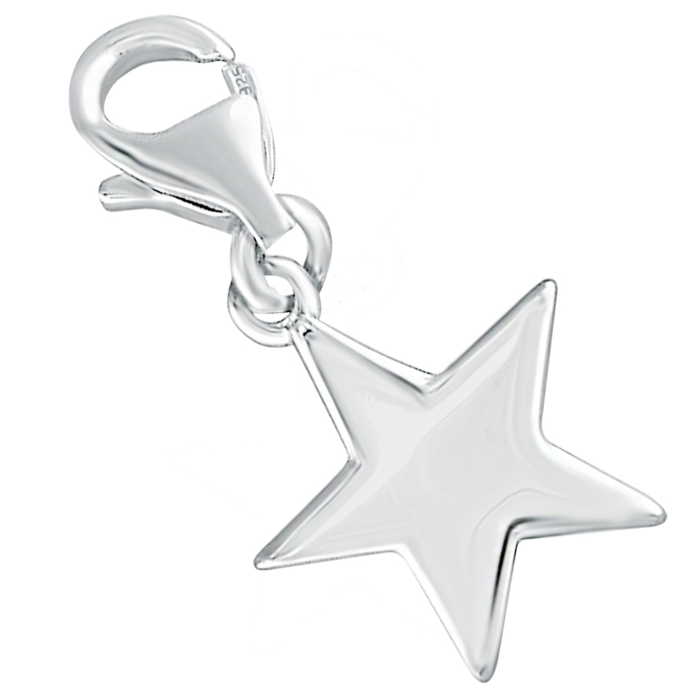 Star Charm, Sterling Silver with Personalised Engraving