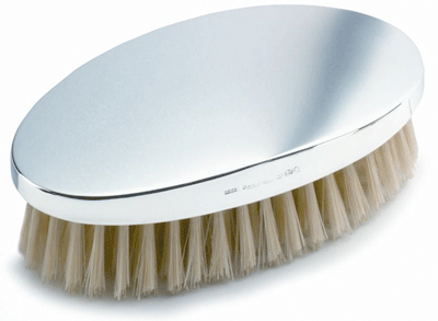 Gents Hair Brush Hallmarked Sterling Silver (can be personalised)