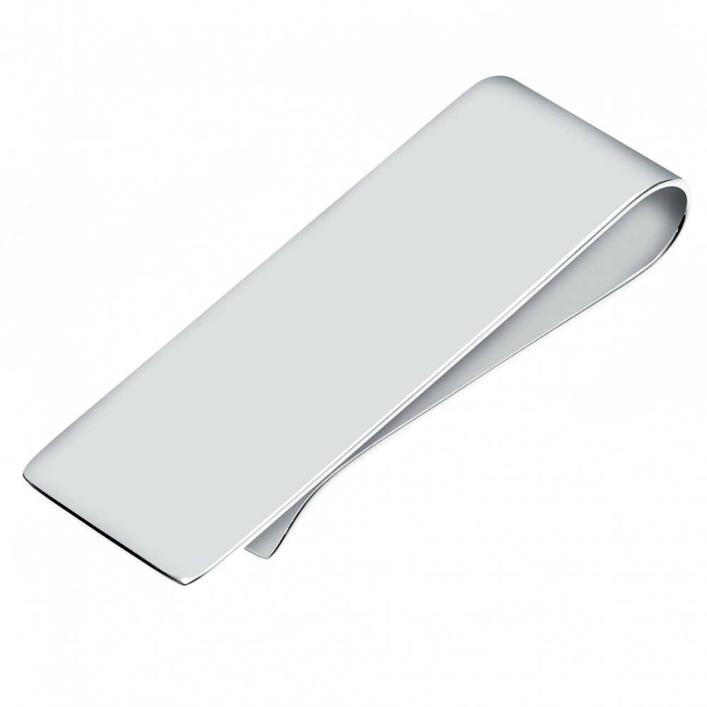 Plain Money Clip, Personalised, Sterling Silver, Hallmarked