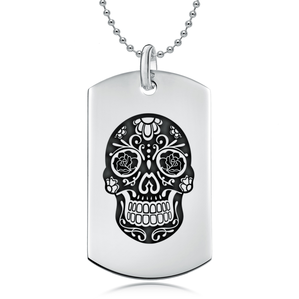 necklace pendants skulls and pin skull mexican pendant small sugar sugaring