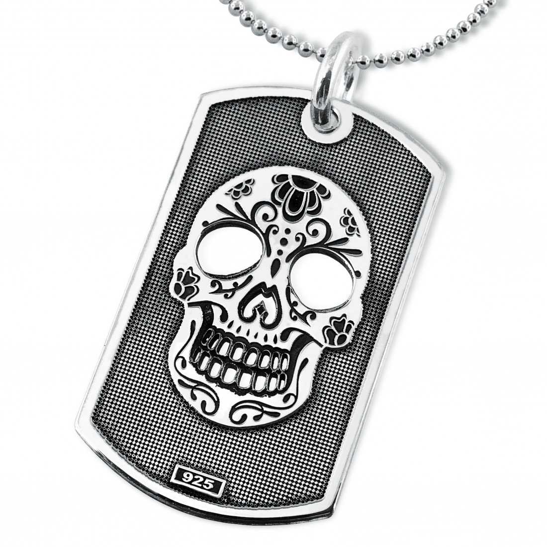 the sugar skull floral products pendant necklace controse jewelry
