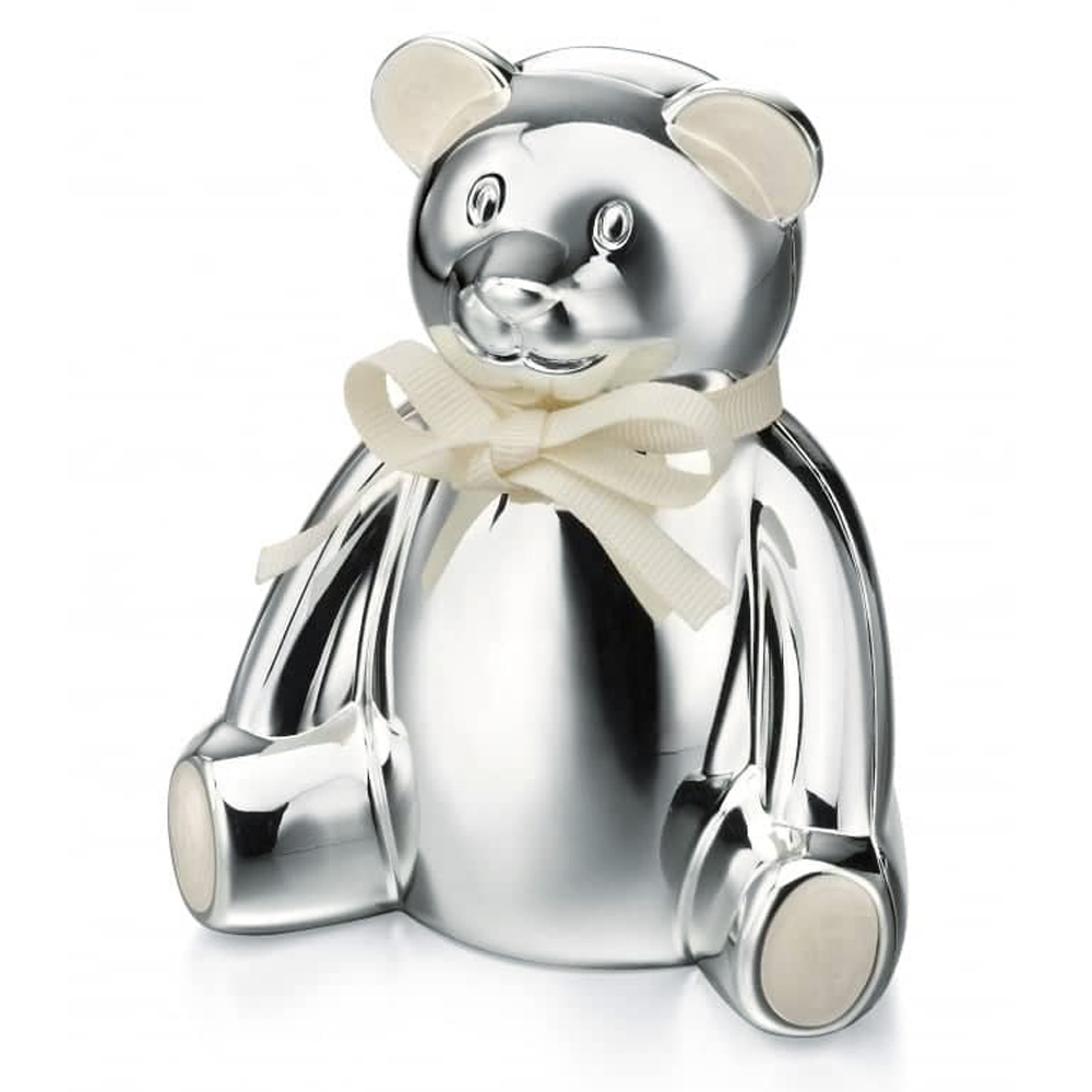 Teddy Bear Money Box, Personalised, D for Diamond