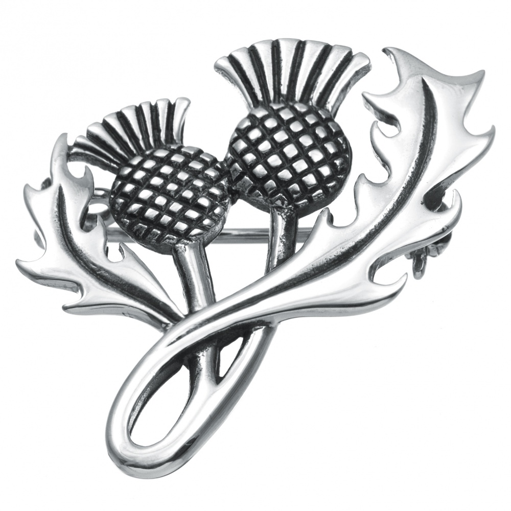 Thistle Brooch, 925 Sterling Silver