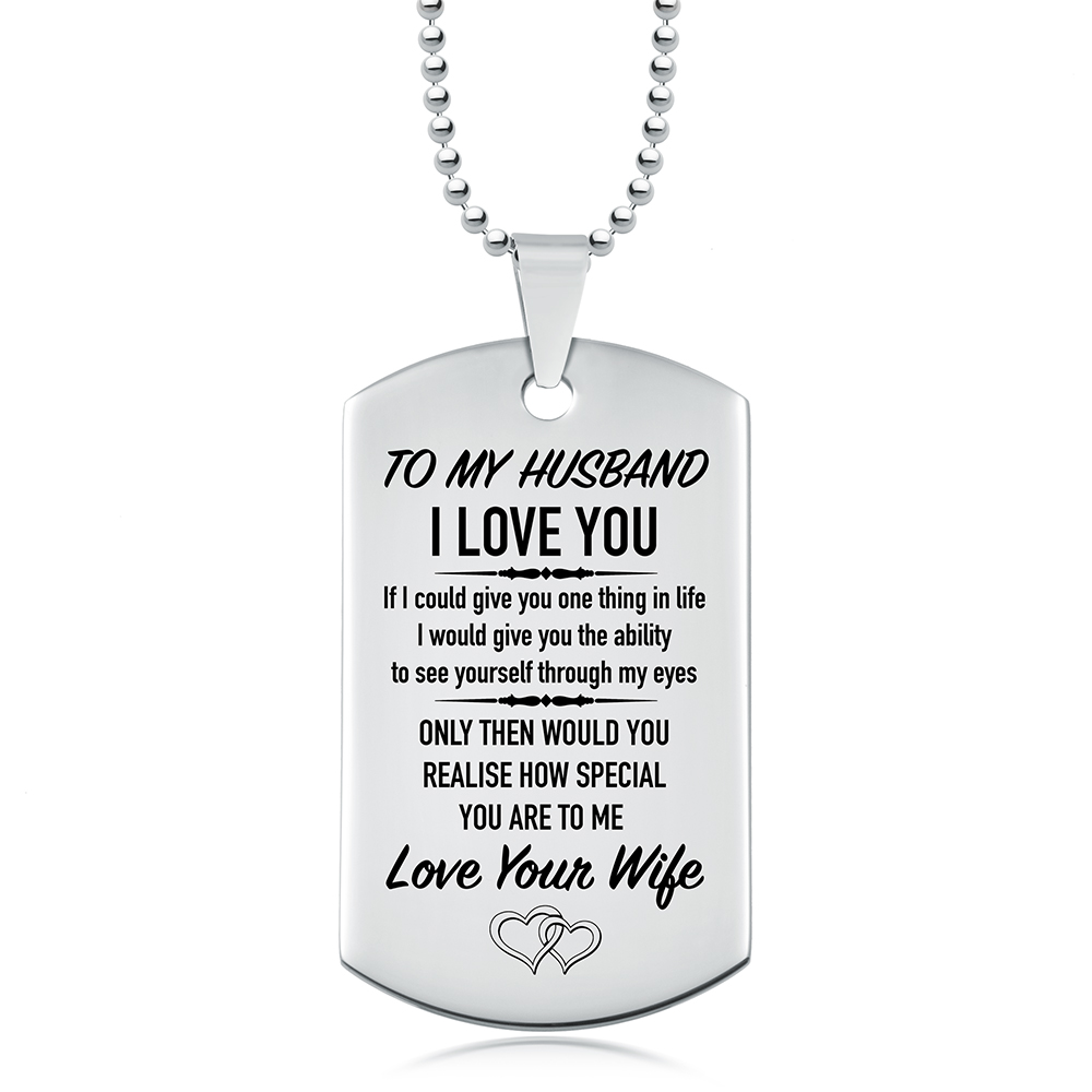 my steel to chain or necklace wife stainless with husband free products engraving and key personalized dsc