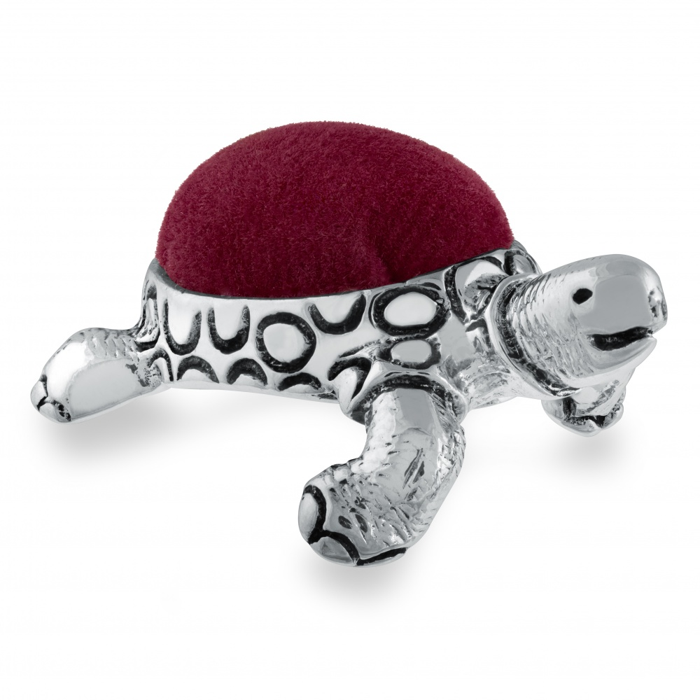 Tortoise Pin Cushion, Sterling Silver, Hallmarked, Personalised